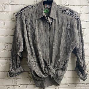Vintage jac dale button up with shoulder pads